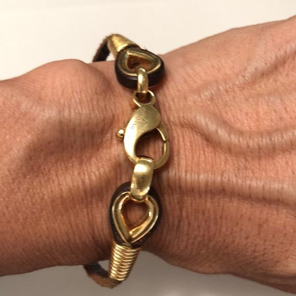 Bulgari Jewelry - Bvlgari Gold 18k and leather Bracelet